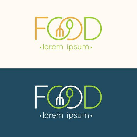 음식의 현대 최소한의. 삽화.