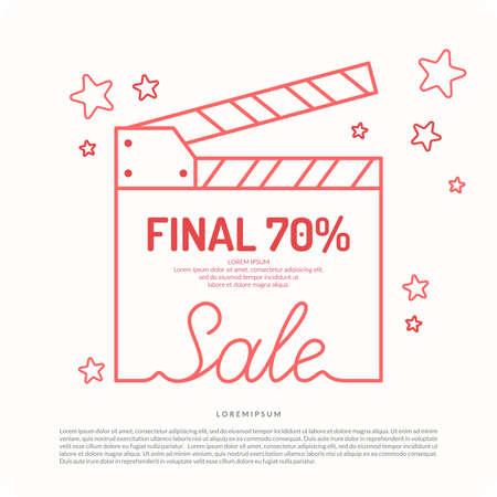 finale: Original concept poster discount sale. Sale banner.