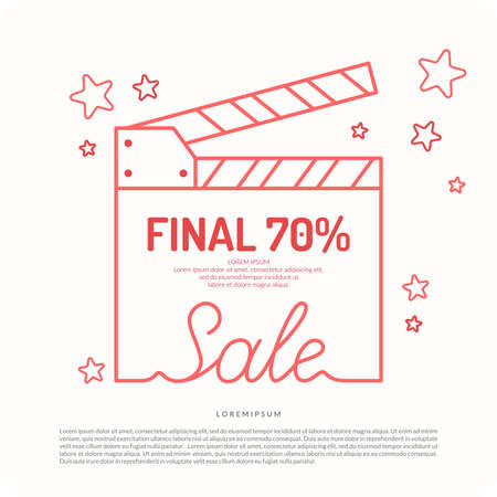discount banner: Original concept poster discount sale. Sale banner.