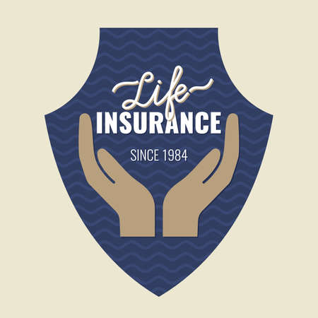safely: Life icon. Conceptual sign life insurance and property. Illustration