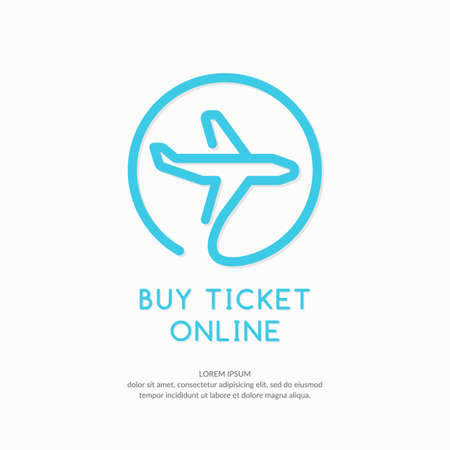 fuselage: Icon with online ordering and booking of tickets.