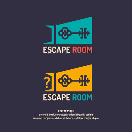 Real-life room escape. The logo for the quest room. Illustration