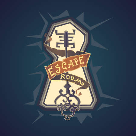 Real-life room escape. The logo for the quest room i cartoon style.