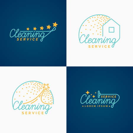 carpet cleaning service design: Set. Cleaning. Collections of the label. Private company services apartments and offices.
