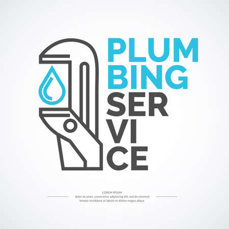 House and plumbing repair. Elements and icons for cards, illustration, poster and web design.