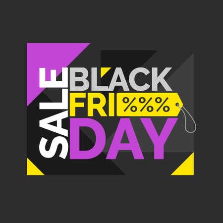 big sales: Black friday. Big sales. Trendy, modern poster to advertise your goods. illustration. Illustration