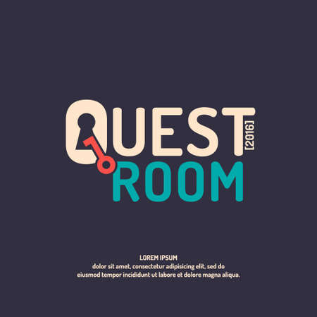 quest: Real-life room escape. Logo and posters for the quest room.