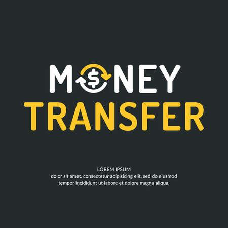 circulate: Modern money transfer and emblem. Vector illustration