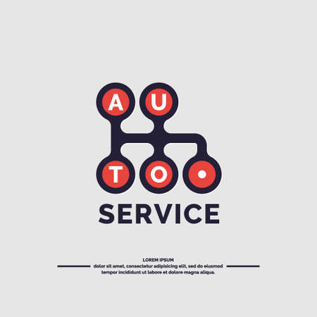car care center: Auto service. Car gearbox. Vector illustration Illustration