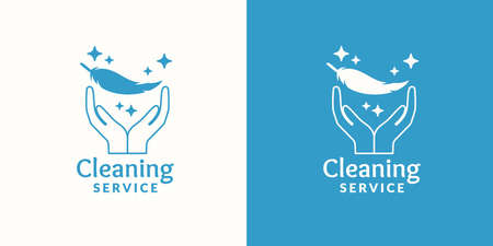 carpet cleaning service design: Logo for company cleaning service. Elements for the brand.