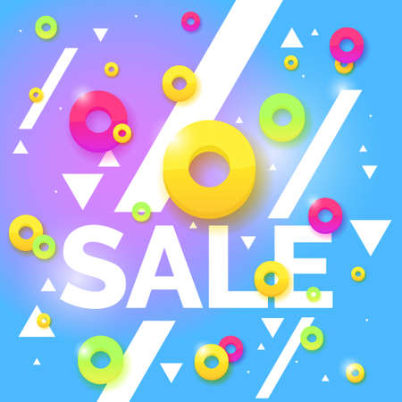 percentage: Best sale banner. Original poster for discount. Bright abstract background with text. Vector illustration.