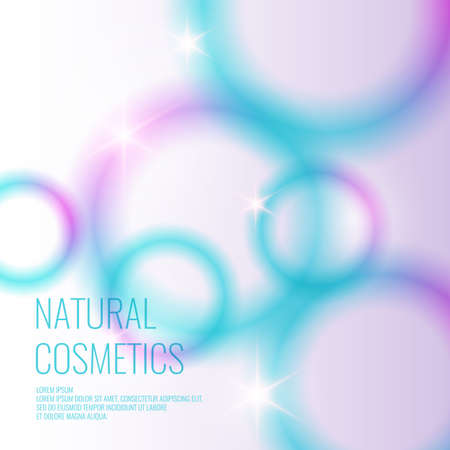 Natural cosmetics background.