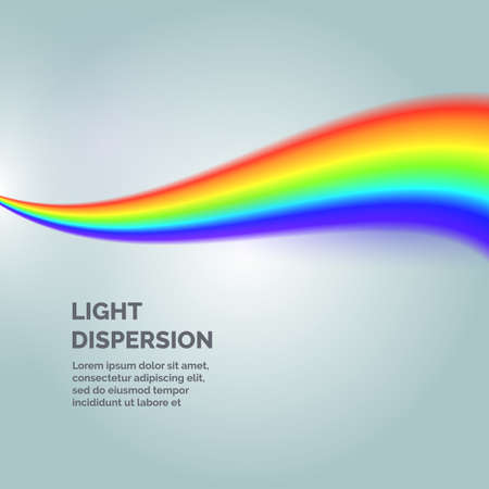 The light dispersion. Background with rainbow. Vector illustration