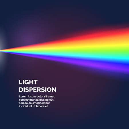 The light dispersion. rainbow. Vector illustration