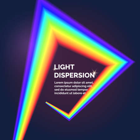 refracting: The light dispersion. rainbow. Vector illustration