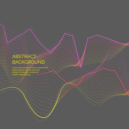 Abstract background with a dynamic waves and particles. Vector illustration. Illustration