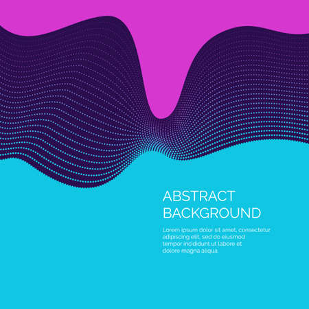 Vector abstract background with a dynamic waves and particles. Illustration suitable for motion design.