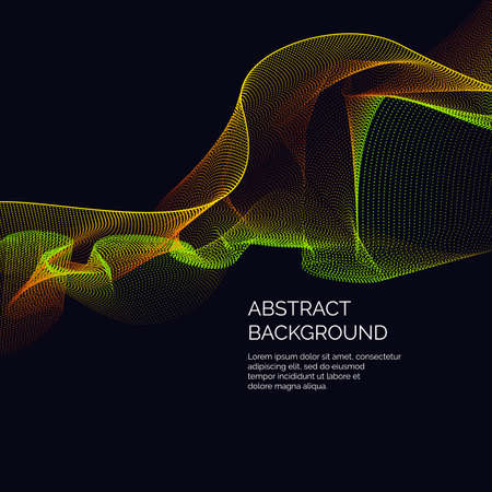 Vector abstract background with a dynamic waves and particles. Illustration suitable for motion design Illustration