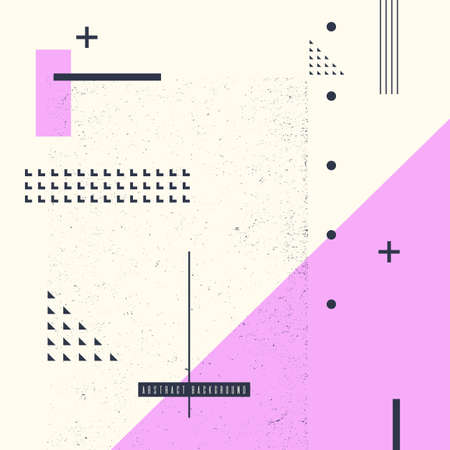 Modern abstract art geometric background with flat, minimalistic style. Vector poster with elements for design