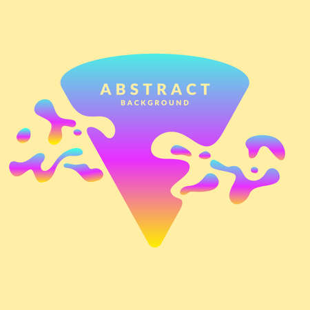 Abstract background with splashes and triangle, in a minimalist style. Bright vector illustration with frame gradient for text
