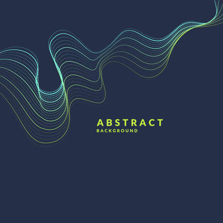 smooth background: Vector abstract background with a colored dynamic waves, line and particles. Illustration suitable for design