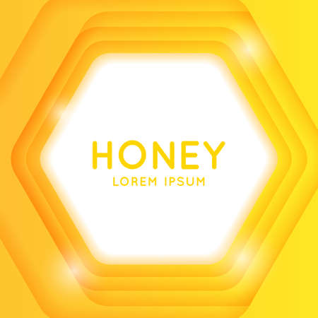 Modern poster for sale of cosmetics based on honey and bee products. Vector template and sign.