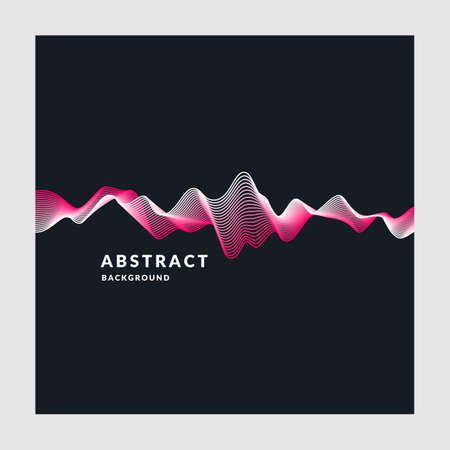 Vector abstract background with a colored dynamic waves. Illustration suitable for design