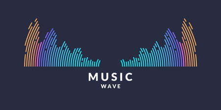 Vector illustration of music wave in the form of the equalizer Çizim