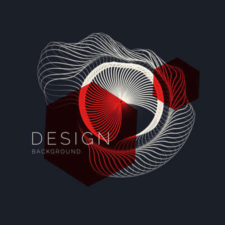 Abstract dynamic waves, line and particles