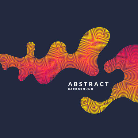 Bright abstract background with a dynamic waves of minimalist style illustration for website design Illustration