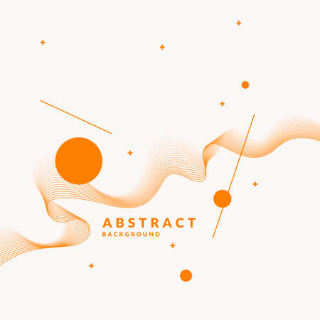 Vector abstract background with dynamic waves, line and particles. Illustration suitable for design.
