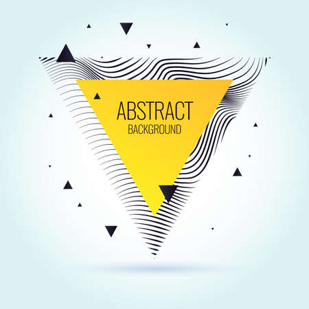 Vector abstract design with dynamic waves