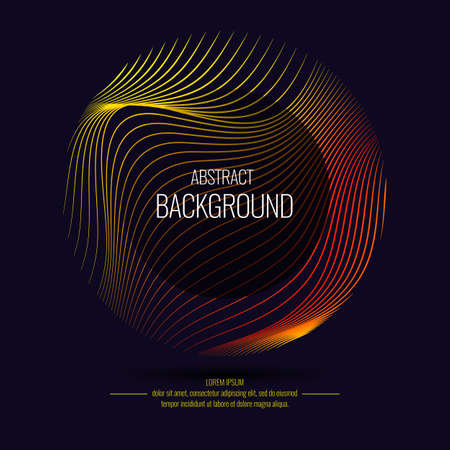Vector abstract background with dynamic waves. Illustration suitable for design 写真素材 - 90524069