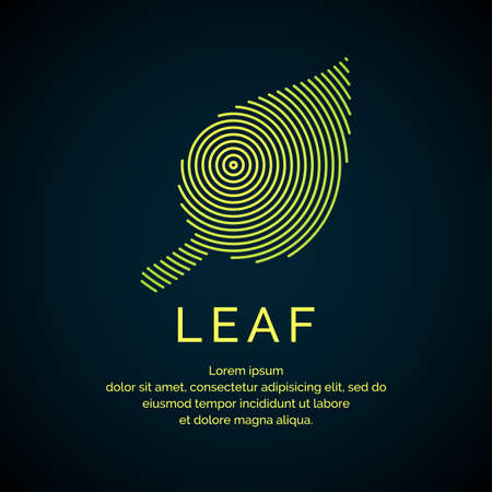 Illustration of leaf in a linear style. Vector logo and sign. Illustration