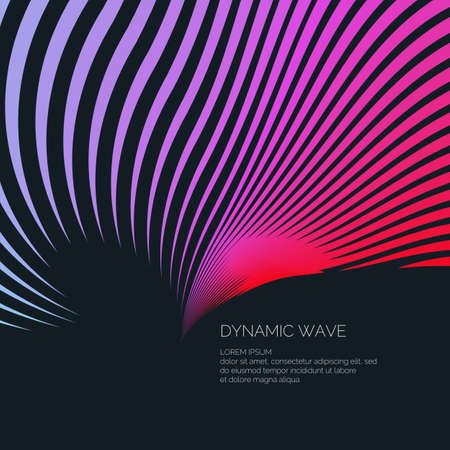 Bright abstract background with a dynamic waves of minimalist style.