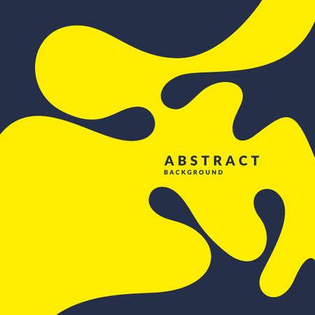 Bright poster with splatter vector illustration minimal flat style.