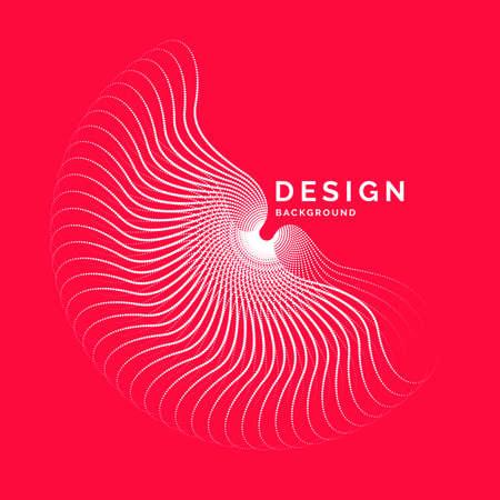 Abstrait de vecteur avec des vagues dynamiques, des lignes et des particules. Illustration adaptée à la conception