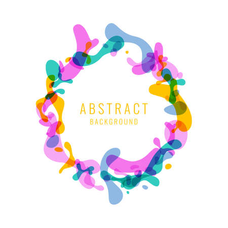 Bright abstract background with explosion of colored splashes. Vector illustration in flat minimalistic style Иллюстрация