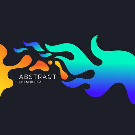Bright poster with splatter. Vector illustration minimal flat style