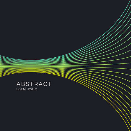 Vector abstract background with dynamic lines. Illustration suitable for design Çizim