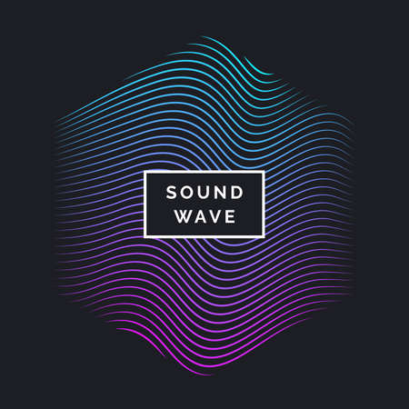 Abstract vector background with dynamic waves. Illustration suitable for design. Illustration