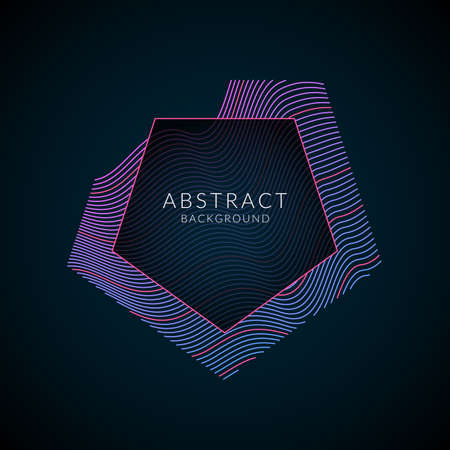 Vector abstract background with dynamic waves. Illustration suitable for poster design