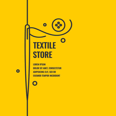 Minimalistic linear poster for textile shop. Vector illustration. Standard-Bild - 103443951