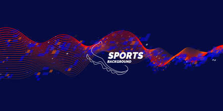 Modern poster and background for sports. Vector illustration