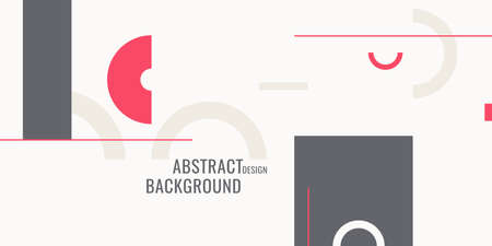 Retro abstract geometric background. The poster with the flat figures. Vector illustration.