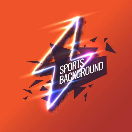 Modern colored poster for sports. Vector illustration Illustration