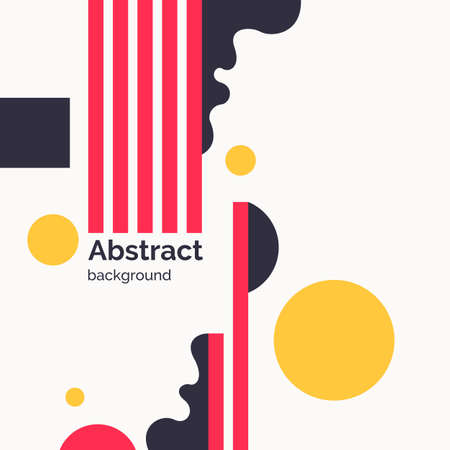 Abstract background with straight lines and splashes in minimalistic flat style. Bright vector illustration