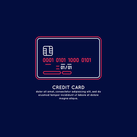Credit card. Vector isolated illustration