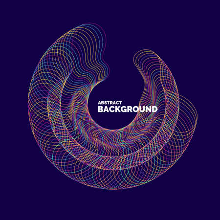 Vector abstract background with a colored dynamic lines. Illustration suitable for design Illustration