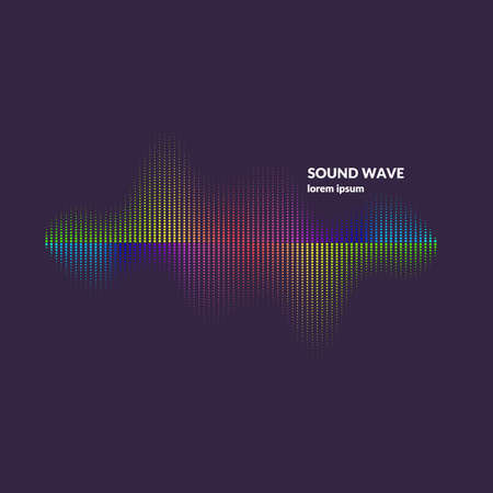Sound wave equalizer. Modern vector illustration on dark background  イラスト・ベクター素材